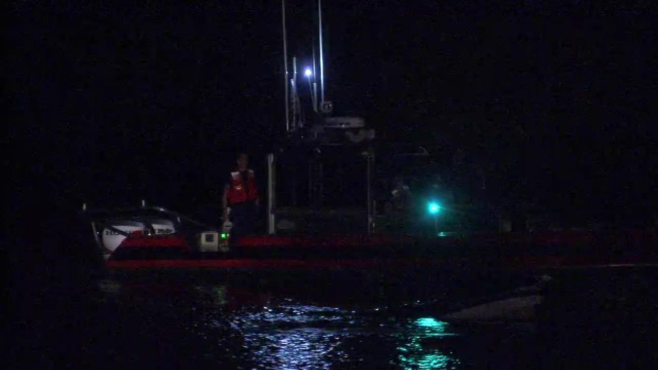 Authorities search for a missing man after a Jet Ski accident in the Delaware River near Trenton, New Jersey.