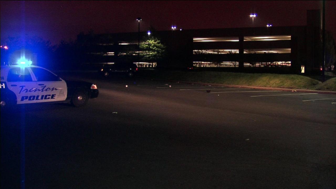A shooting outside a Trenton nightclub has left three people hospitalized.