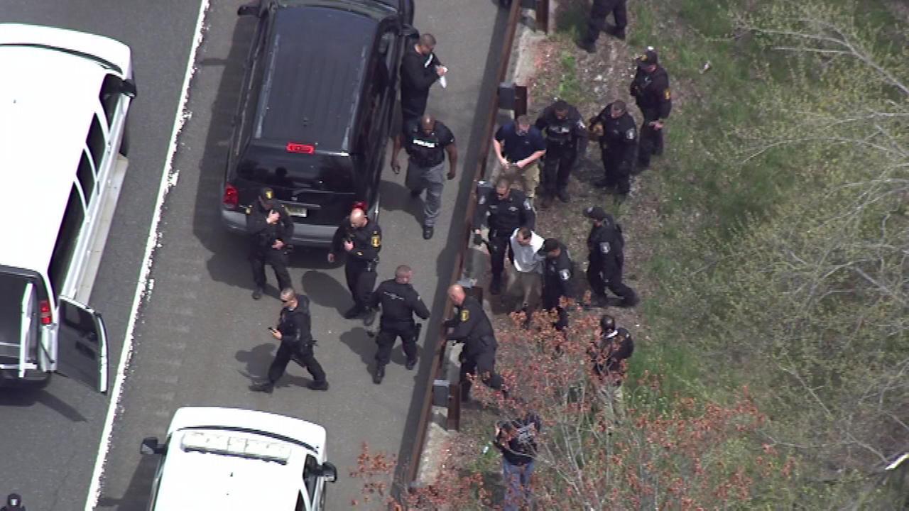 Chopper 6 was over the scene as Arthur Buckel was taken into custody.