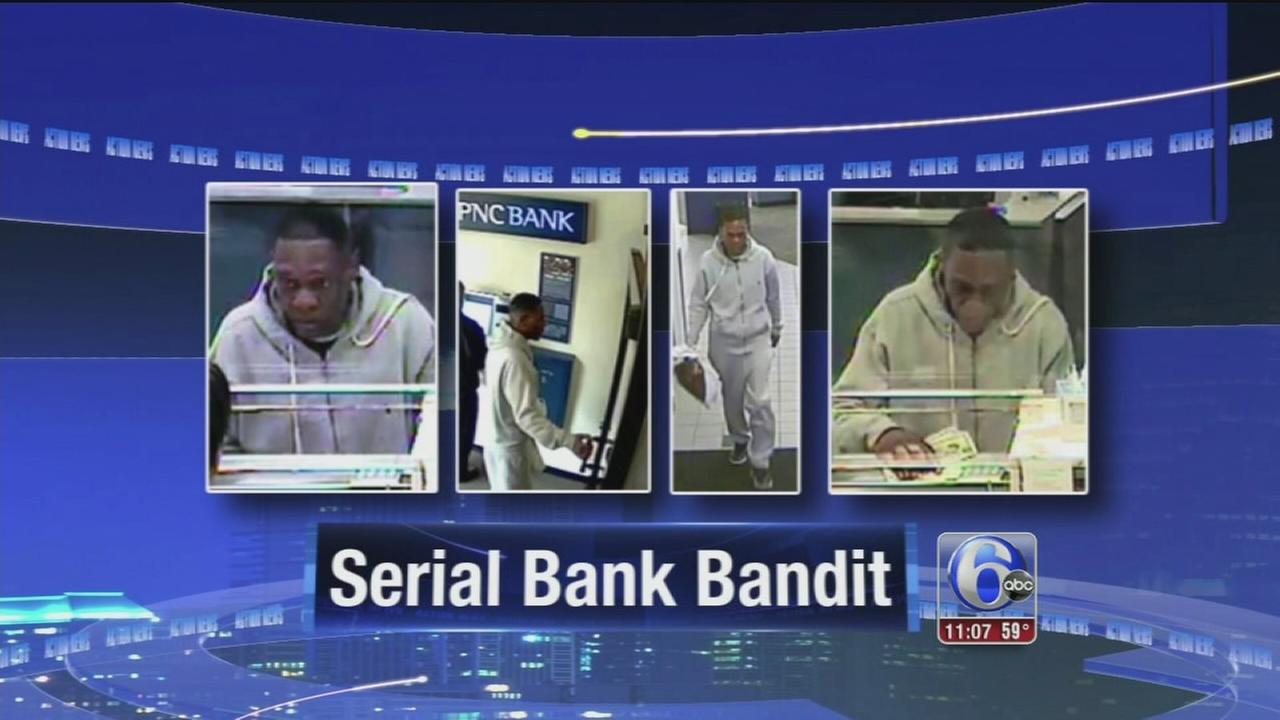 VIDEO: Search for serial bank bandit