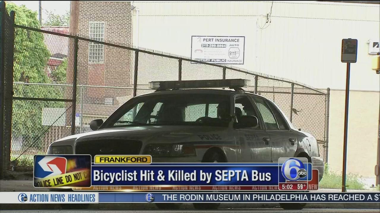 VIDEO: Bicyclist struck, killed by SEPTA bus in Frankford