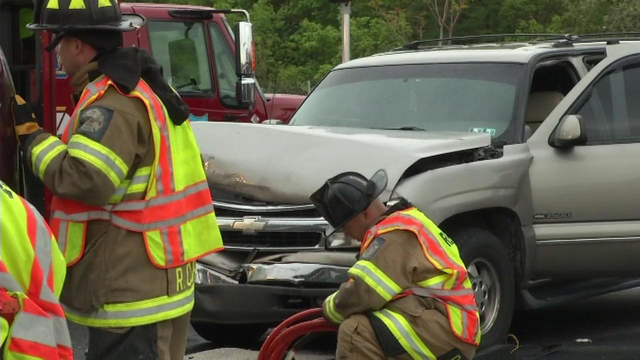 Four people, including a baby, are injured after a collision in New Castle County.