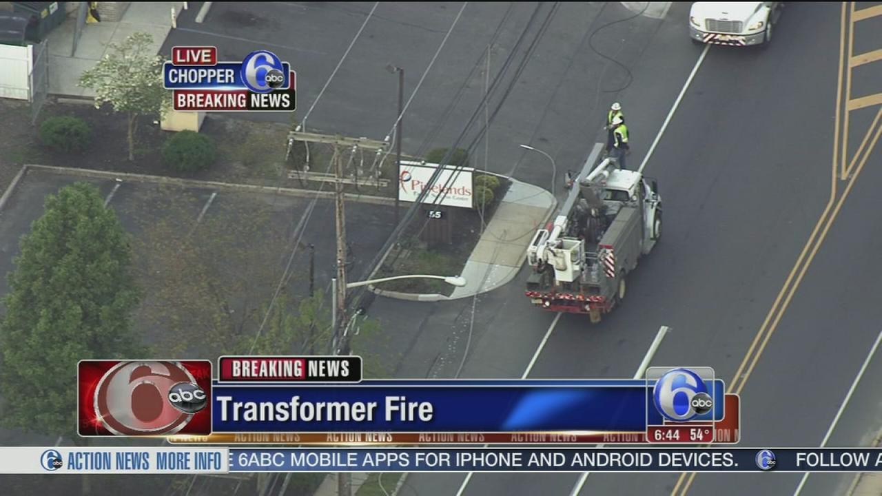 VIDEO: Transformer fire in Browns Mills, NJ