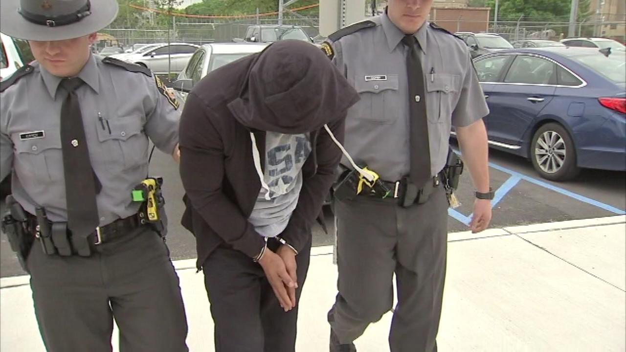 May 11, 2016: Action News was in Philadelphias Wynnefield Heights section as suspect Anthony Richardson was led into the Pennsylvania State Police barracks on Belmont Avenue.