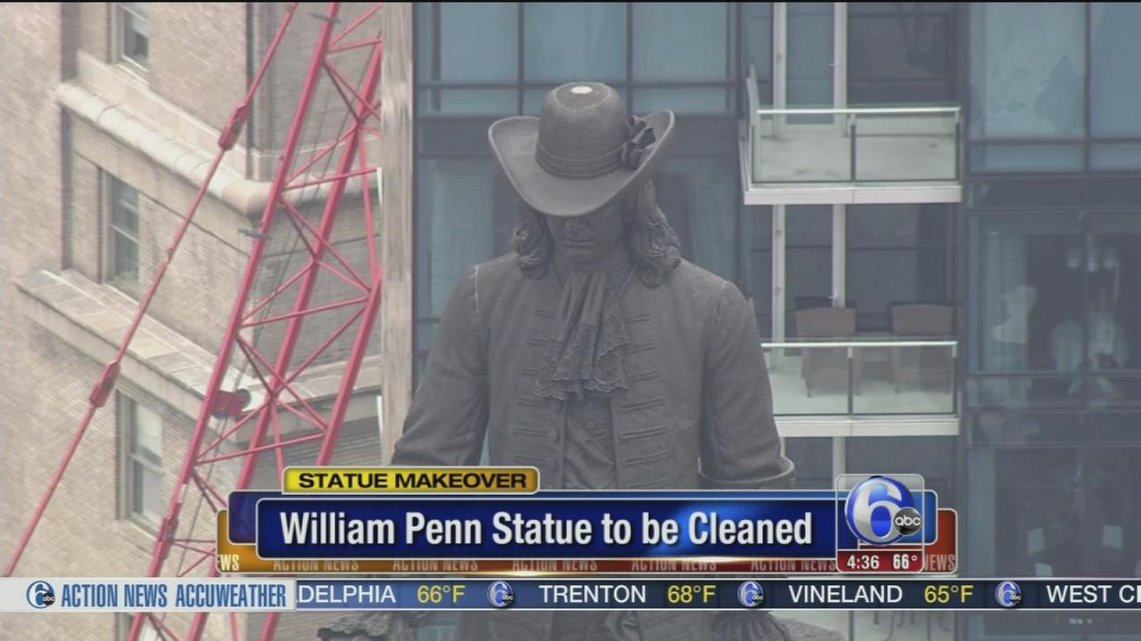 VIDEO: William Penn statue to be cleaned this summer