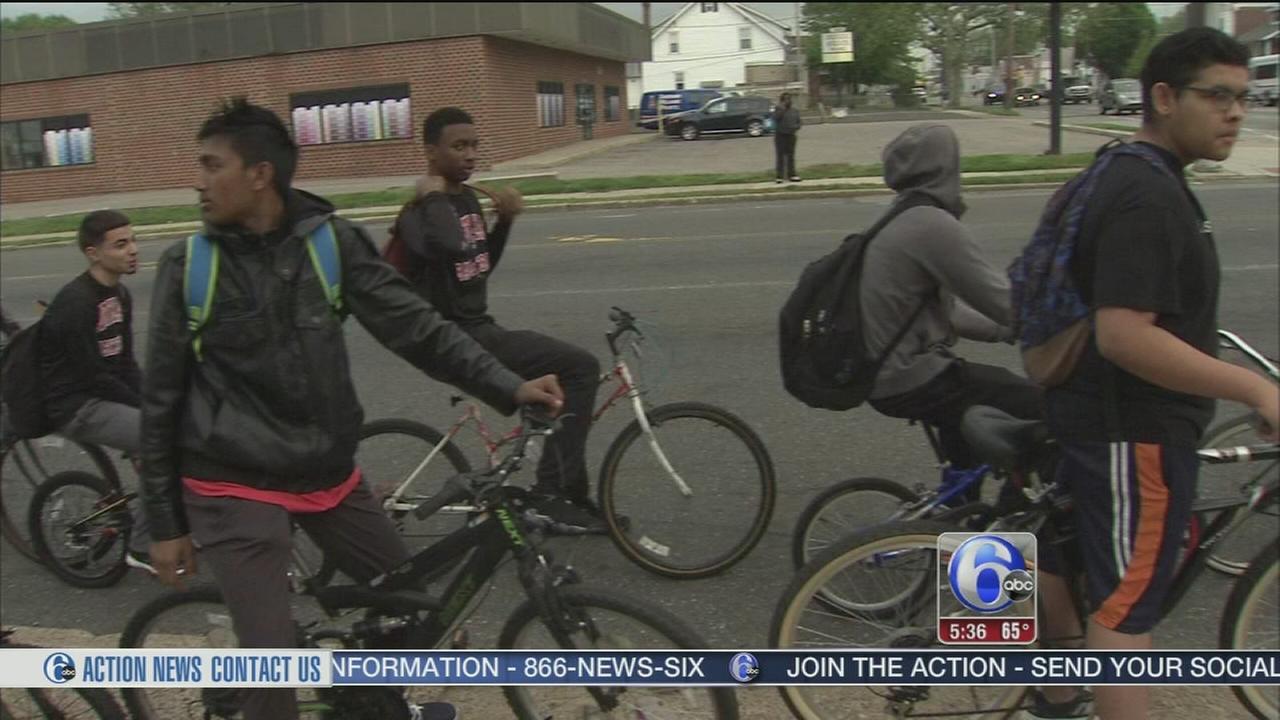 VIDEO: Northeast High students bike to school
