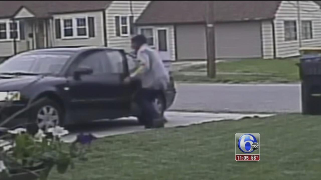 VIDEO: Car thief caught on camera