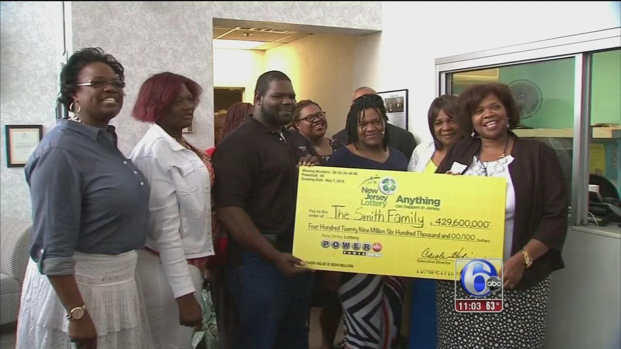 VIDEO: NJ mom, 7 adult children win $429.6 million Powerball jackpot