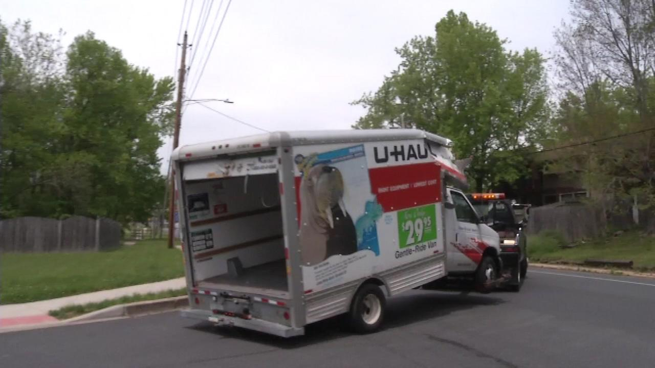 May 14, 2016: The crash happened around noon on Casho Mill Road near Munro Road. Police and medics arrived to find a U-Haul rental truck badly damaged and six people hurt..