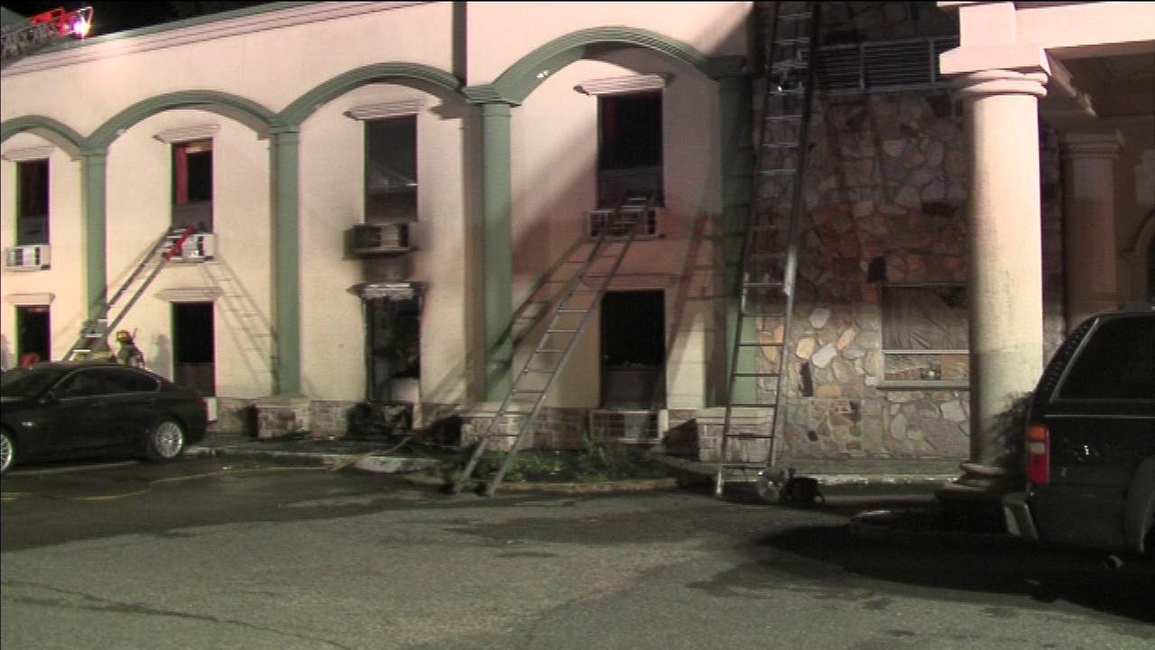 One person was killed in a fatal fire in a motel in Bensalem, Bucks County.
