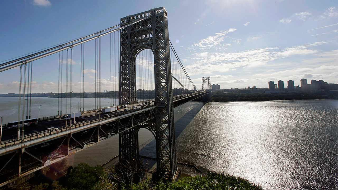 In this Sept. 8, 2014 file photo, the George Washington Bridge spans the Hudson River between Fort Lee, N.J., and New York.