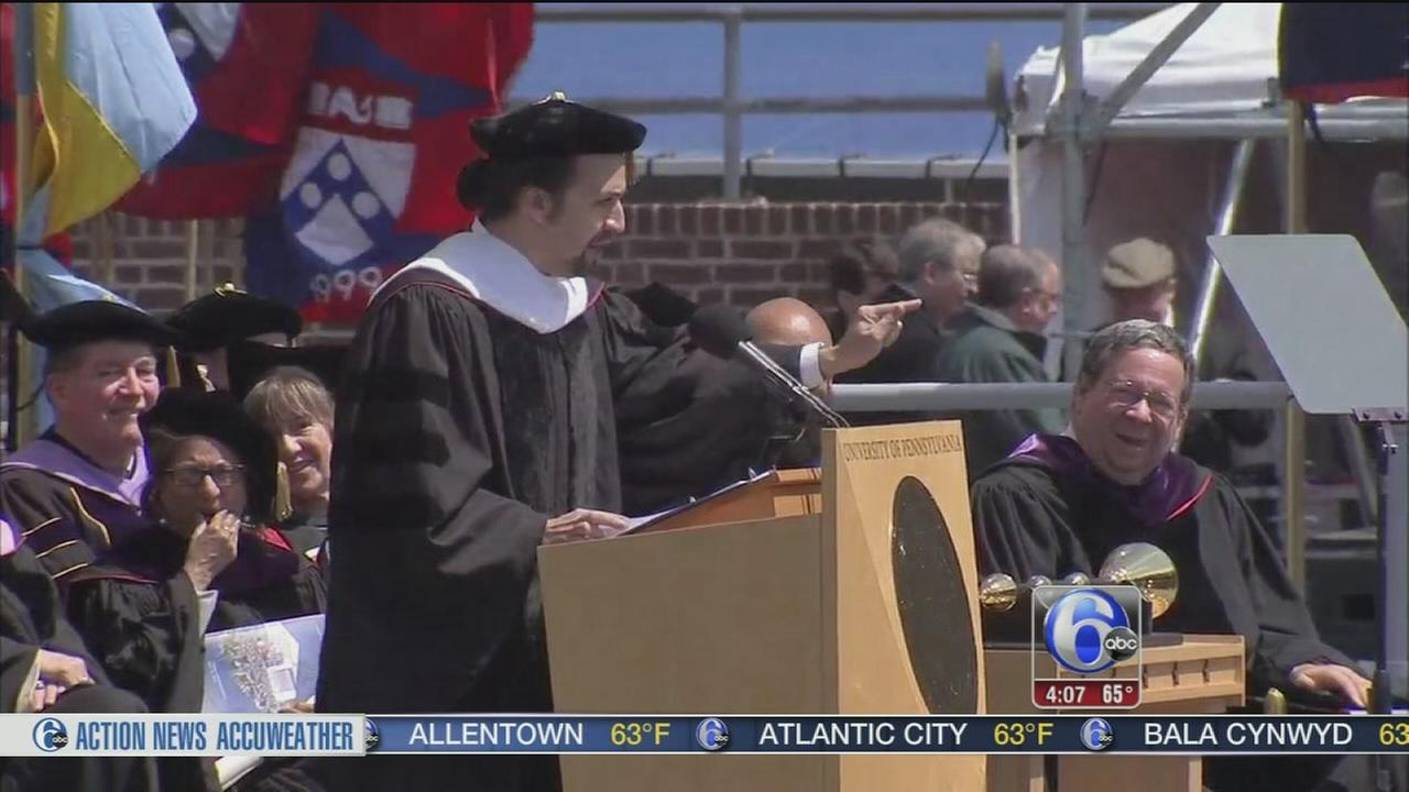 VIDEO: Hamilton?s Lin-Manuel Miranda speaks at Penn commencement
