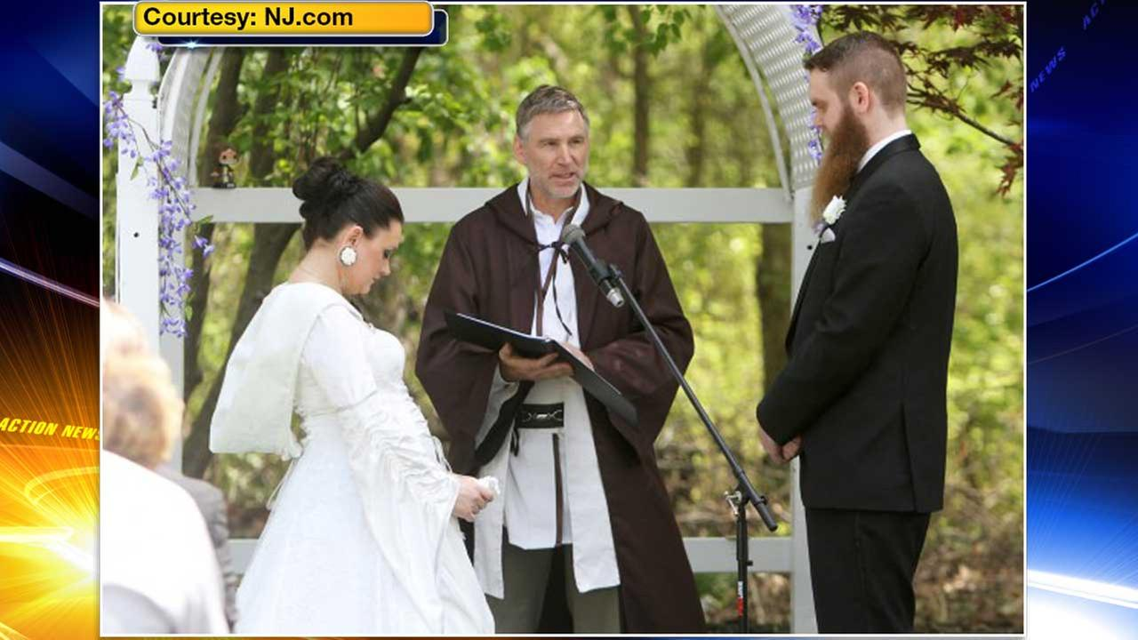 The force was strong for one couple from New Jersey who threw the ultimate Star Wars wedding in Gibbsboro, Camden County.