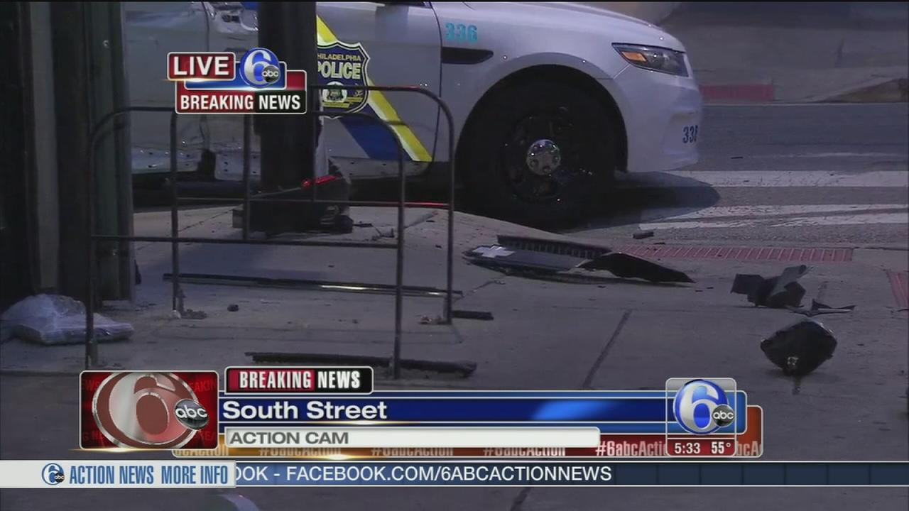 VIDEO: Officer responding to call hurt in crash