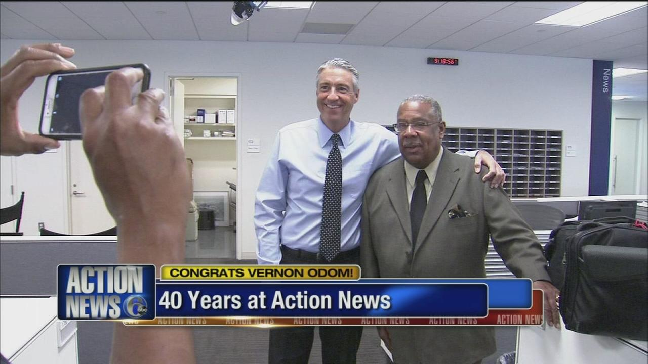 VIDEO: Vernon Odom celebrates 40 years at Action News