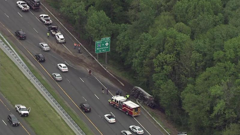 "<div class=""meta image-caption""><div class=""origin-logo origin-image none""><span>none</span></div><span class=""caption-text"">Chopper 6 was over the scene of a crash involving a dump truck on Interstate 295.</span></div>"