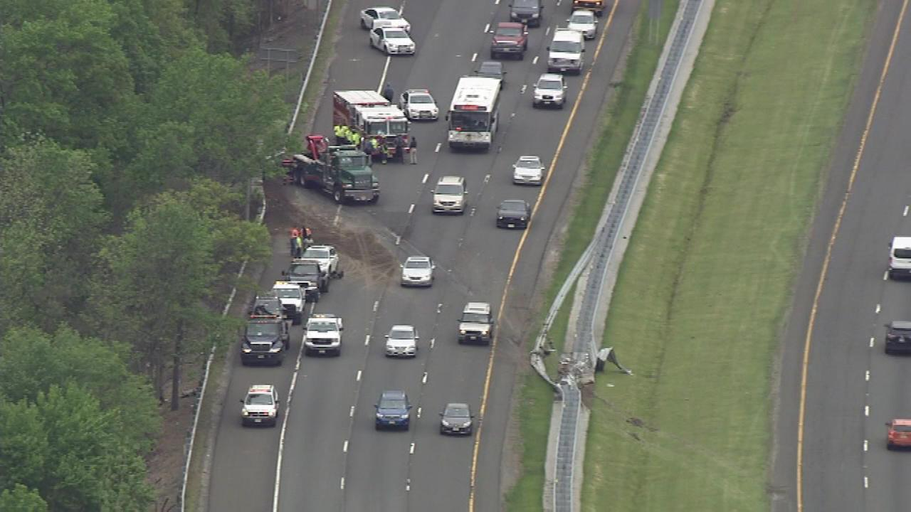 Chopper 6 was over the scene of a crash involving a dump truck on Interstate 295.