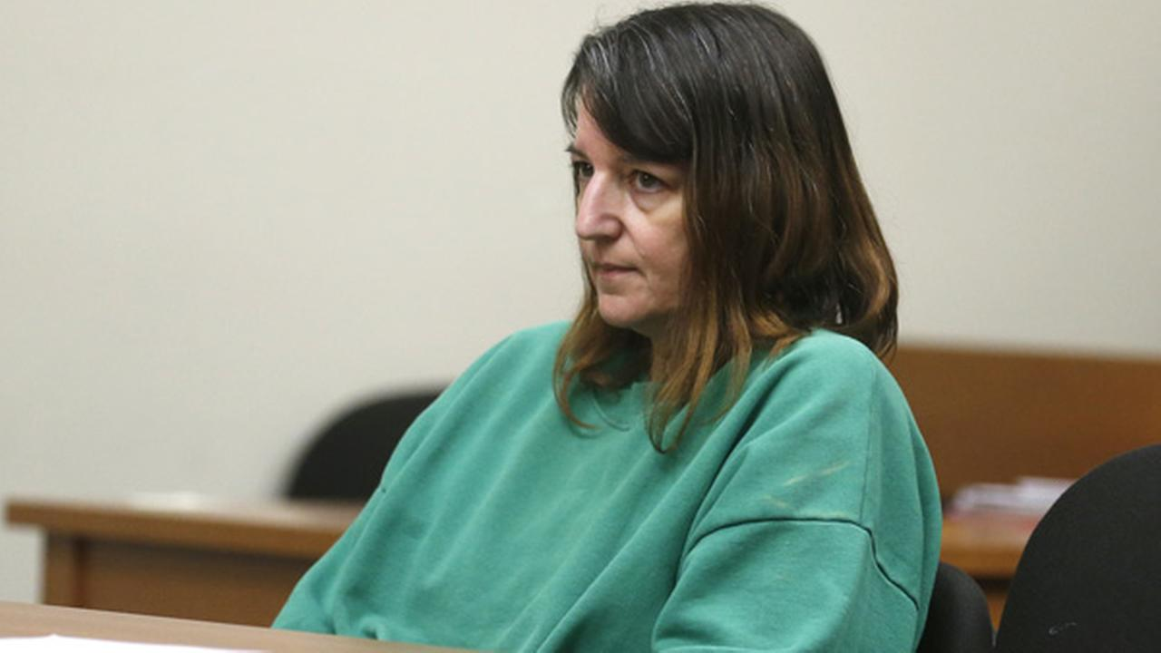 Michelle Lodzinski, charged with the murder of her five-year-old son, Timothy Wiltsey in Sayreville, N.J. more than 20 years ago, appears in court.