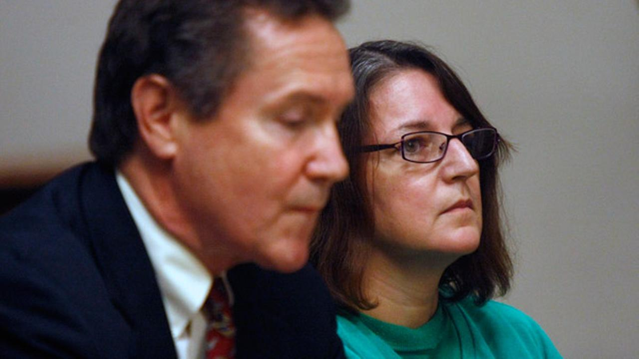 Michelle Lodzinski, right, with her attorney, Gerald Krovatin of Newark, listen during a status conference in New Brunswick, N.J., Tuesday, Oct. 14, 2014.AP Photo/The Star-Ledger, Patti Sapone, Pool