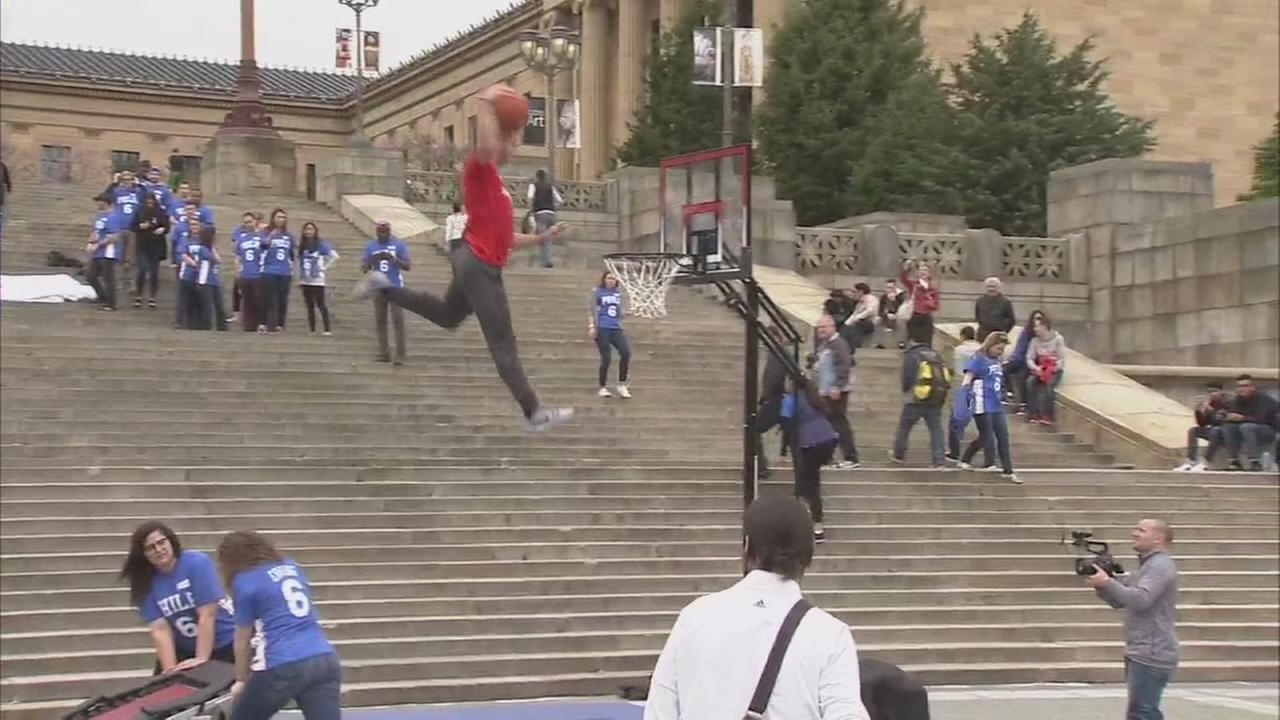 VIDEO: Best dunks at Sixers rally