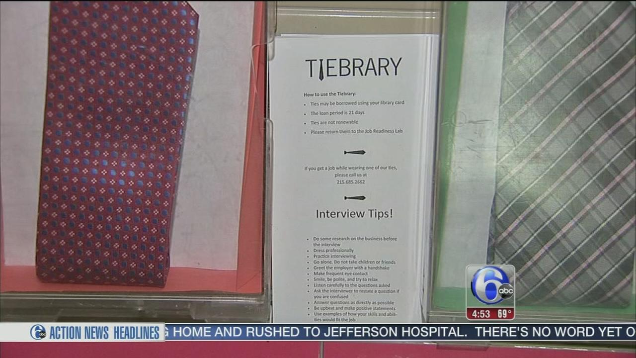 VIDEO: Southwest Philadelphia library helping job-seekers dress for success