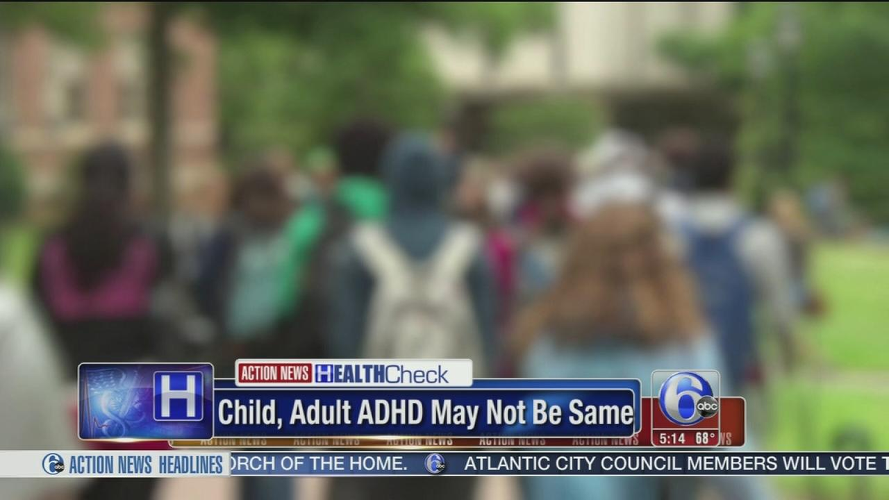 VIDEO: Child, adult ADHD may not be same