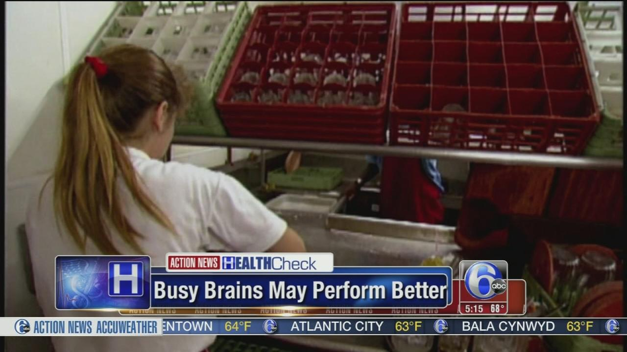 VIDEO: Busy brains may perform better
