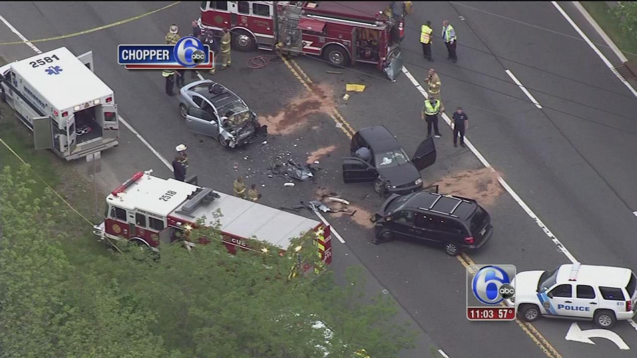 5 injured after 3-vehicle crash in Medford, NJ | 6abc.com