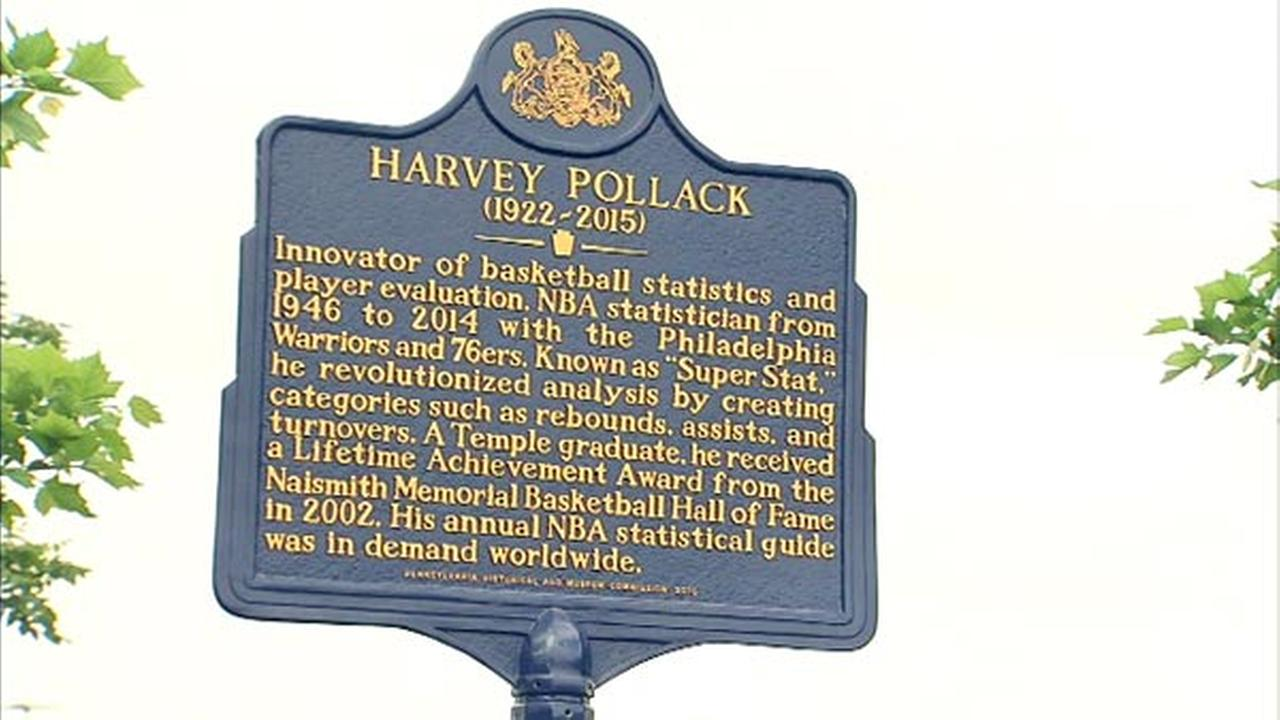 Longtime 76ers stats man Harvey Pollack honored with historical marker