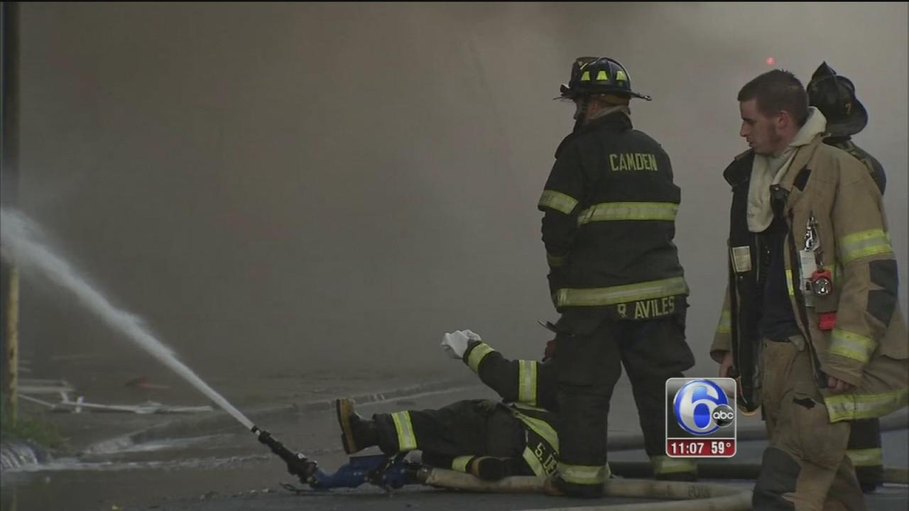 VIDEO: Camden fire