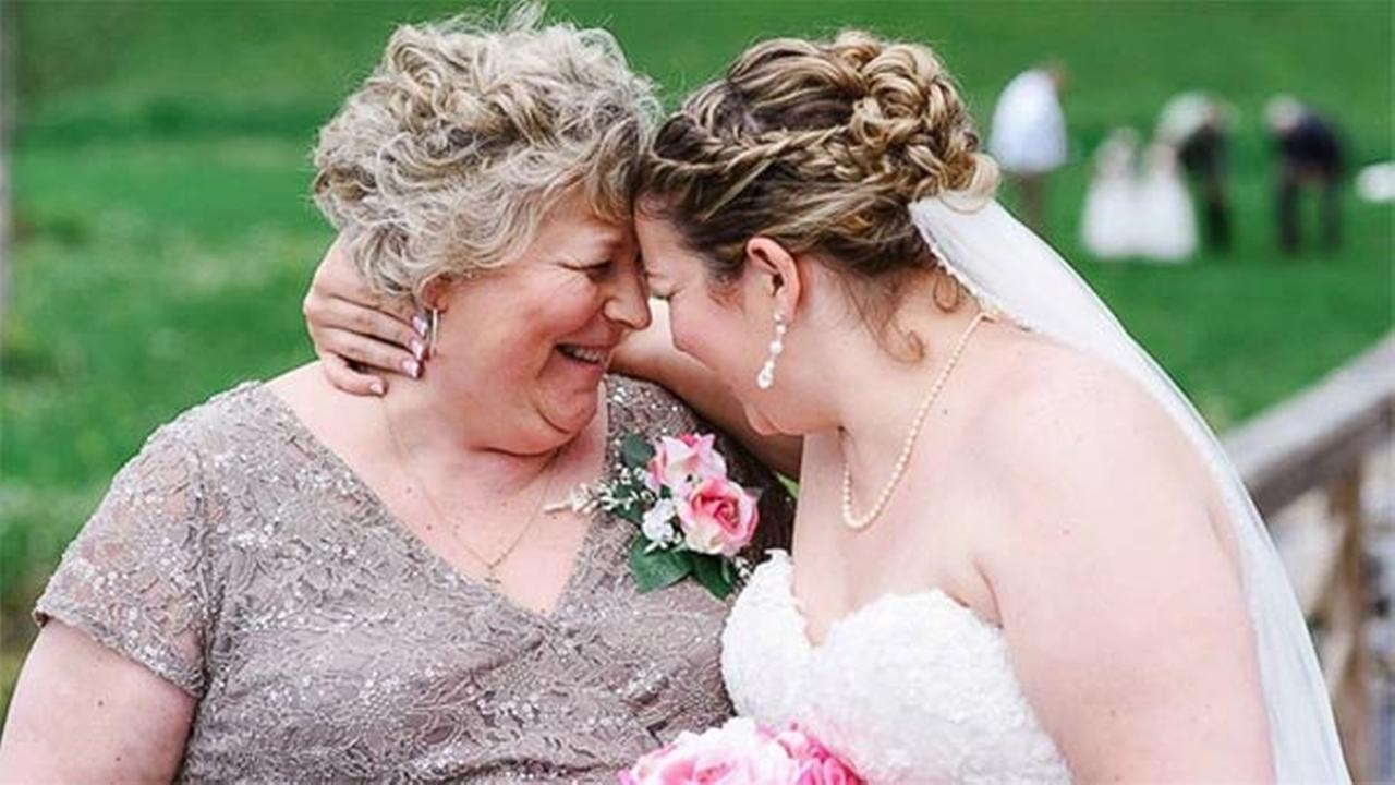How a legally blind mom got to see daughter walk down the aisle