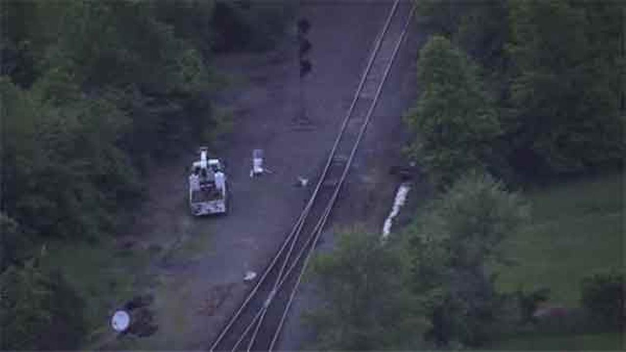 Mercer County authorities are investigating after a pedestrian was struck by a freight train in Ewing Township.