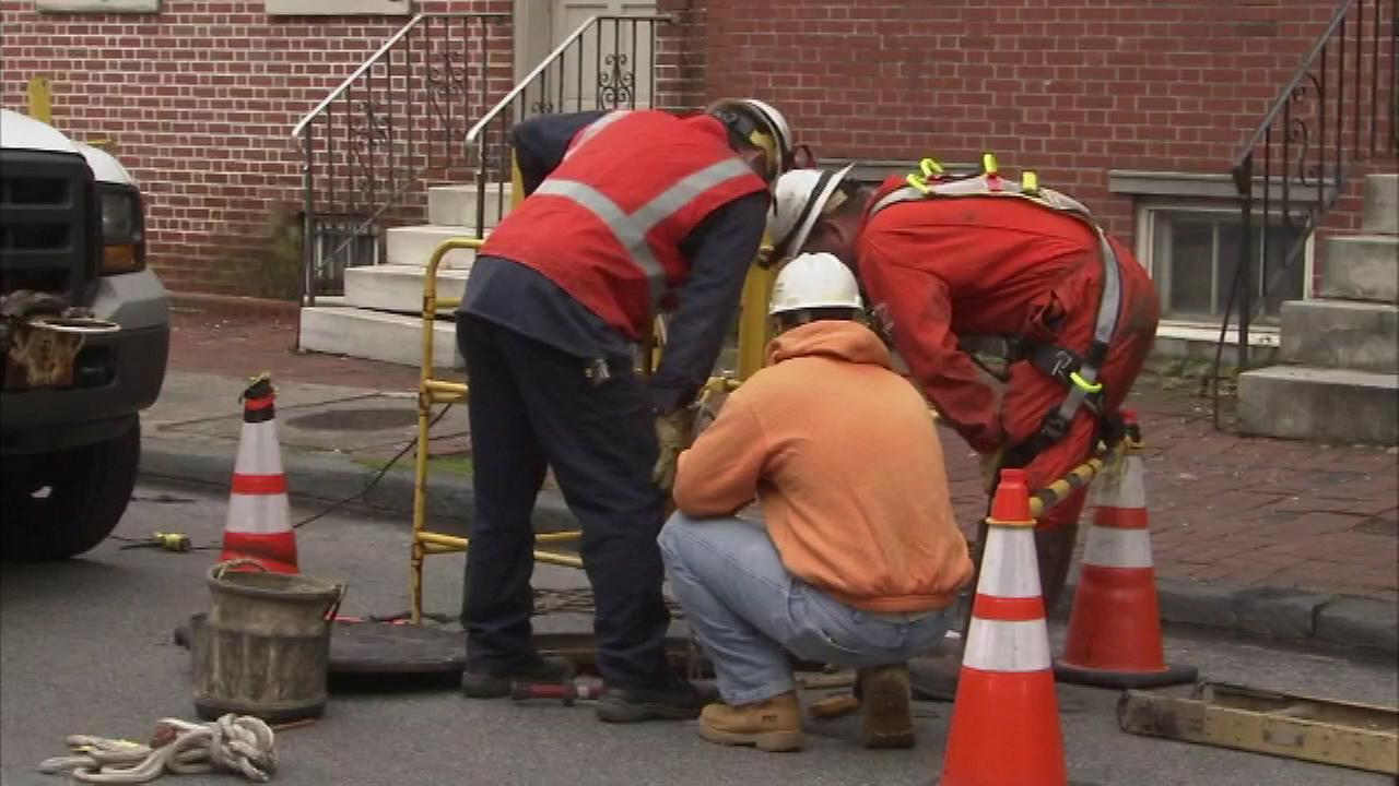 Residents in the Washington Square section of Philadelphia were evacuated from their homes after an underground explosion.