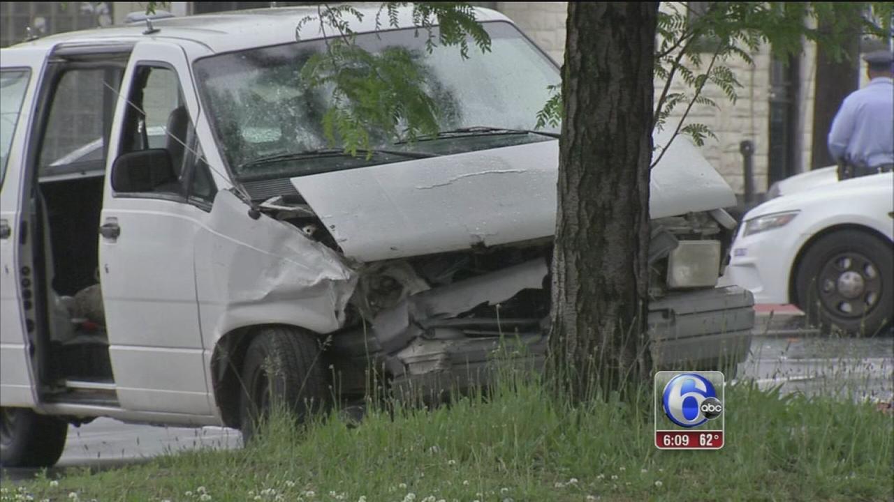 VIDEO: Police car crash