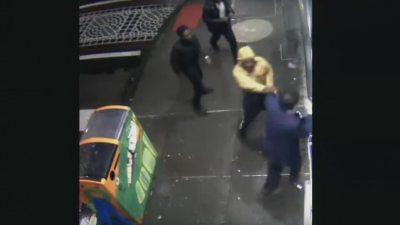 VIDEO: Assault, robbery outside Jims Steaks on South St.
