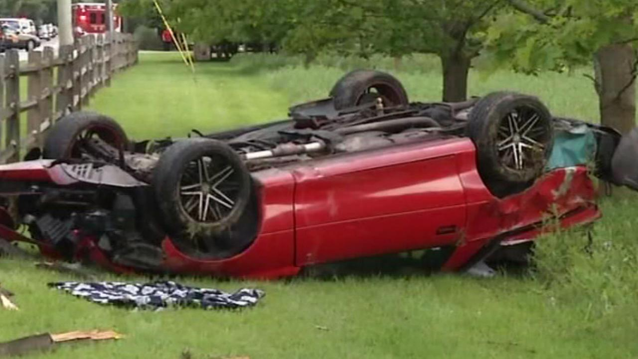 A teenager was injured after crashing into a utility pole in Talleyville, New Castle County.
