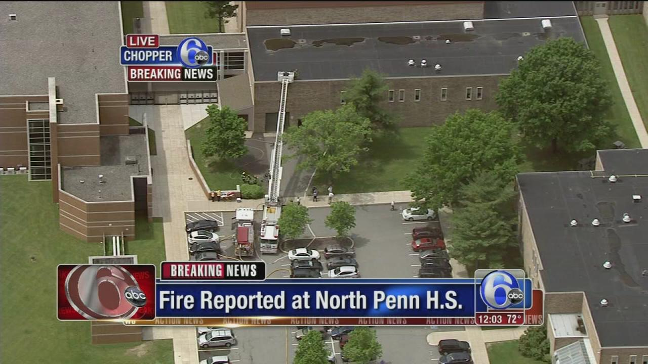 VIDEO: Fire reported at North Penn H.S.