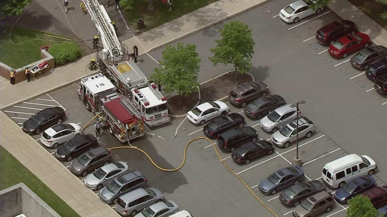 RAW VIDEO: Fire at North Penn H.S.