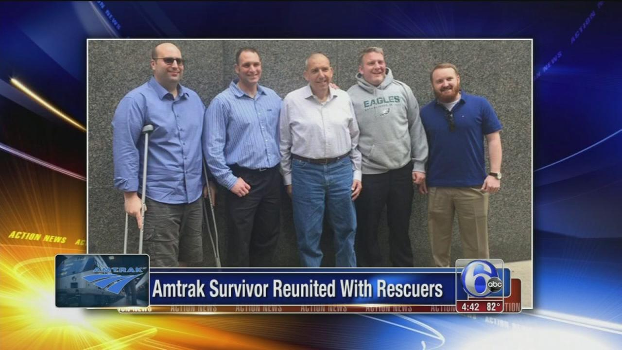 VIDEO: Amtrak survivors reunited with rescuers