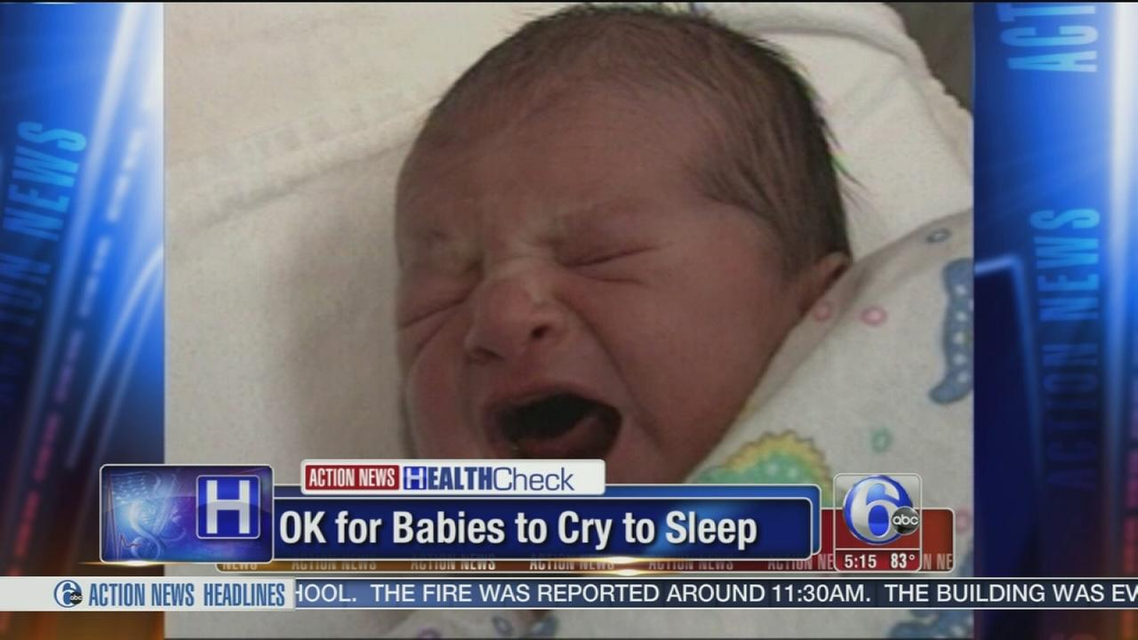 VIDEO: OK for babies to cry to sleep