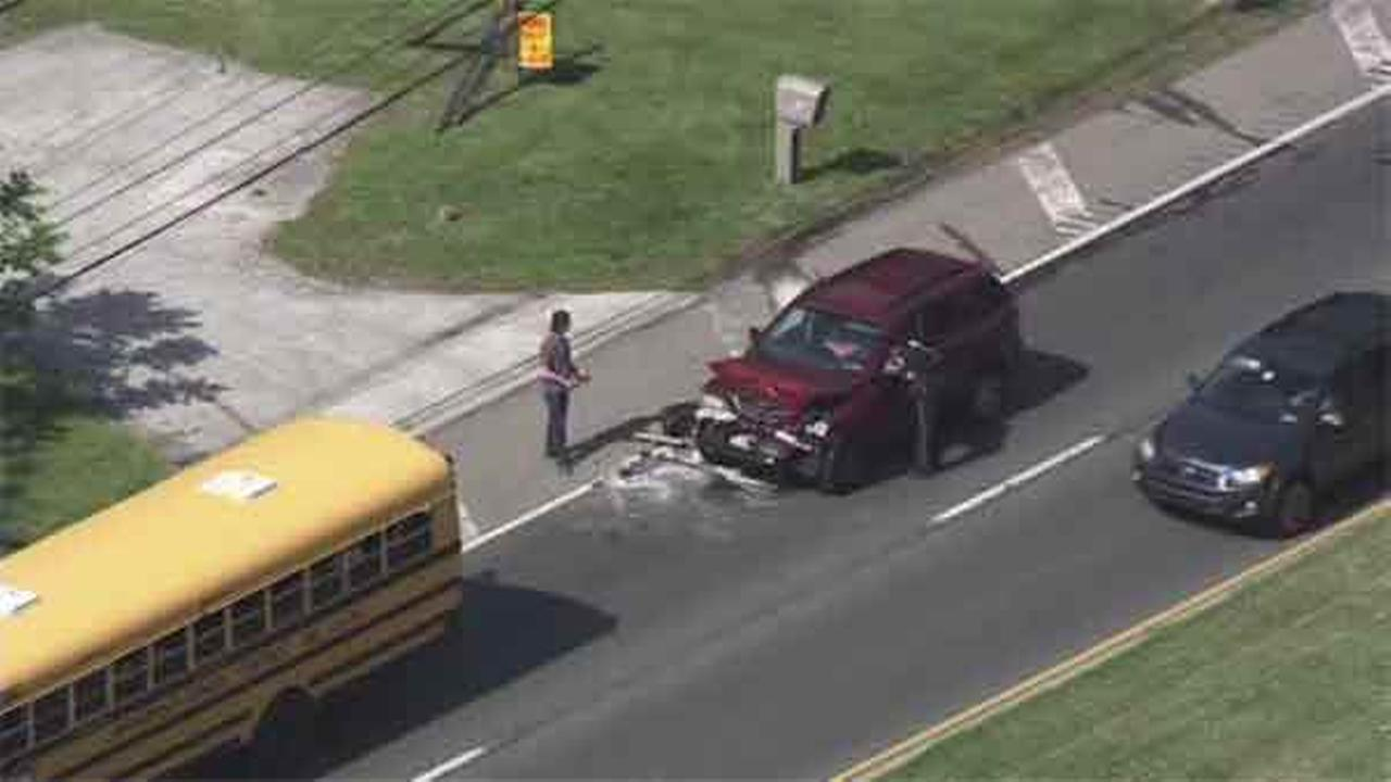 Officials are investigating a crash involving a school bus in Springfield, Delaware County.