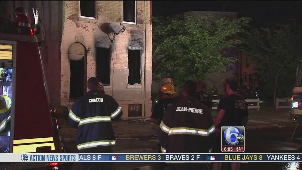 VIDEO: Flames gut house in North Philadelphia