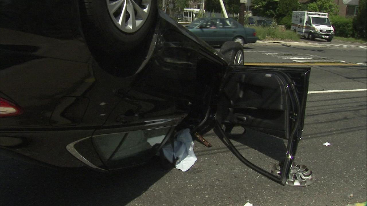 A man is hospitalized after a crash in Chestnut Hill.