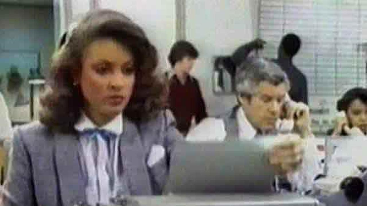 Lisa preparing for a newscast in the 1980s. What was that machine called?!?