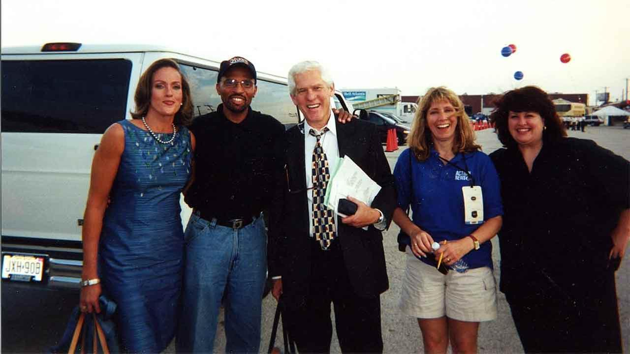 From left to right: Lisa, Warren Trent, Marc Howard Dawn Heefner and Valerie taking a break from coverage of the 2000 Republican National Convention.