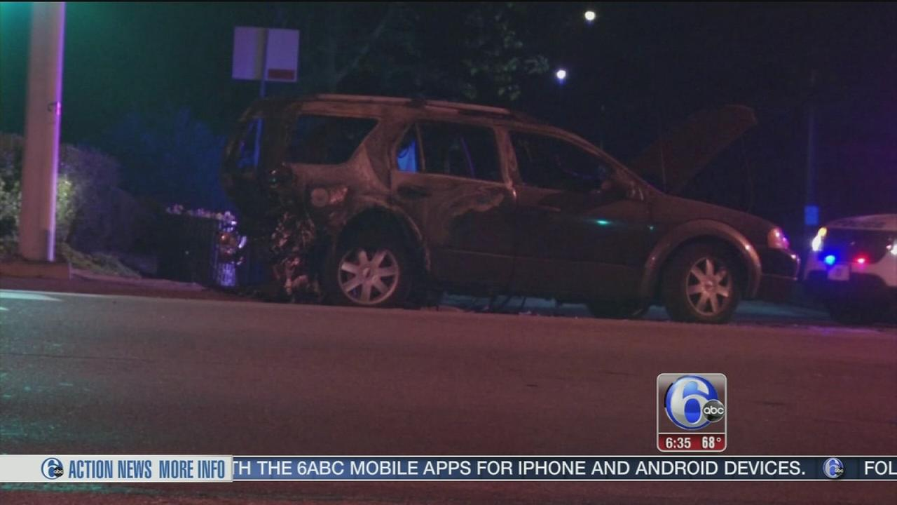 VIDEO: Infant injured in fiery crash on City Ave.