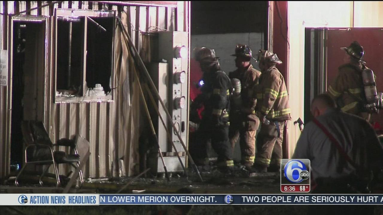 VIDEO: Luxury vehicle showroom catches fire in Bucks County