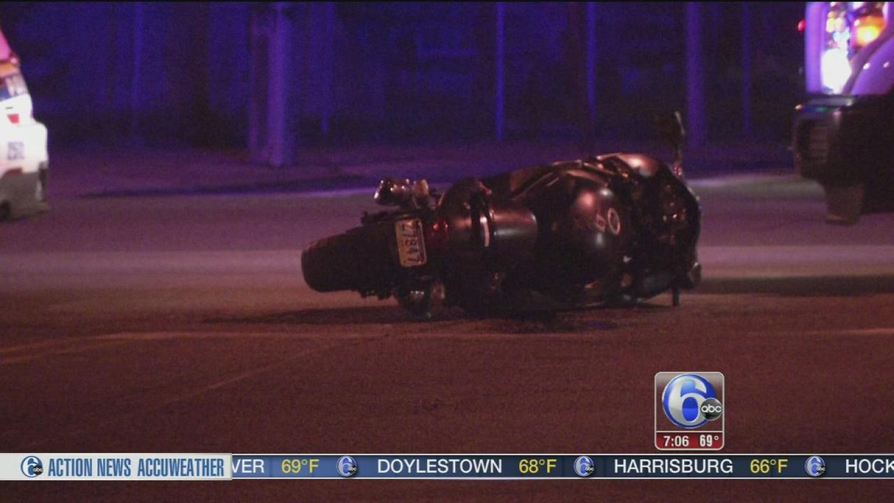 VIDEO: Motorcyclist critically injured in crash on Roosevelt Blvd.