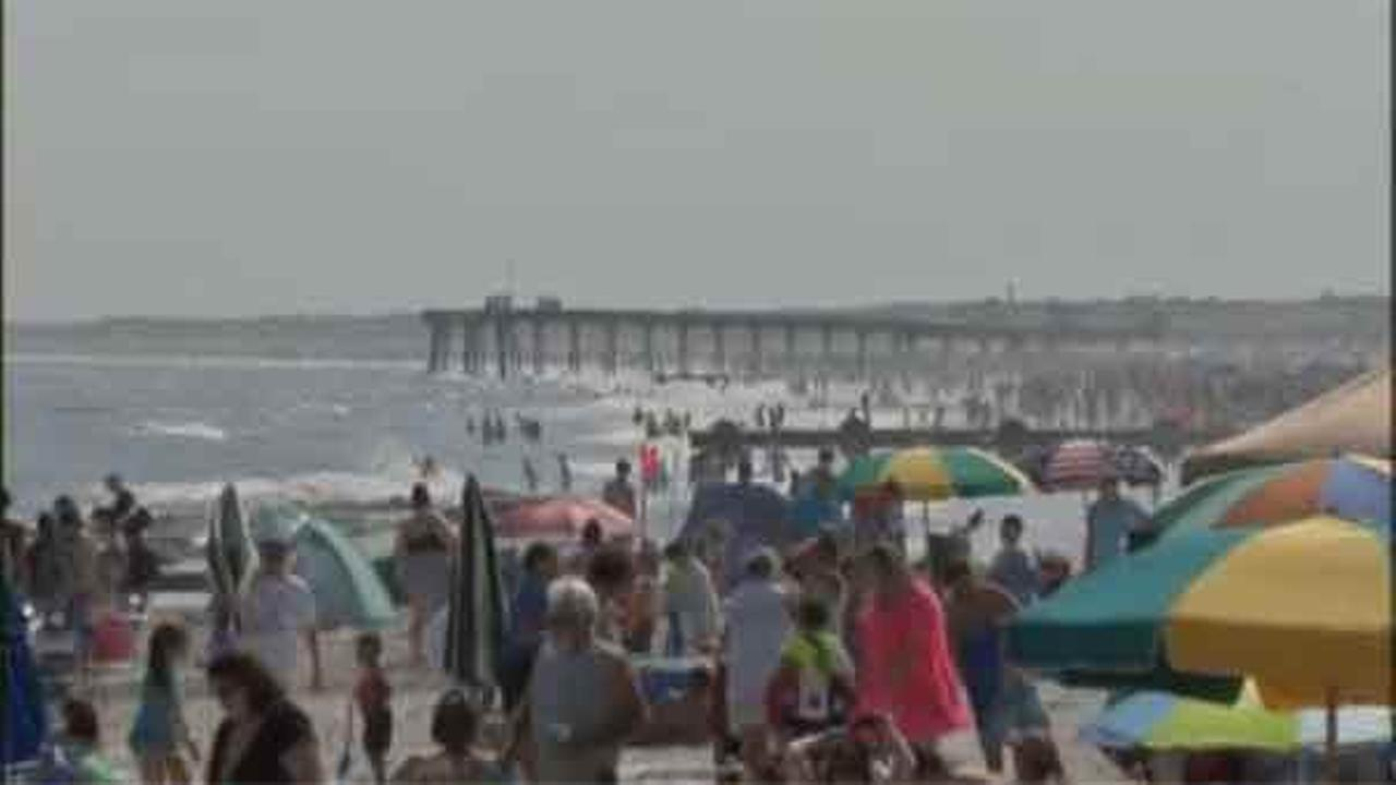 Spirits were high in Ocean City as families packed the beach Saturday. Clear skies and mild temperatures lured sunbathers and swimmers by the thousands.