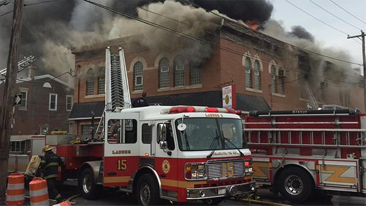 American Legion post on fire in Frankford